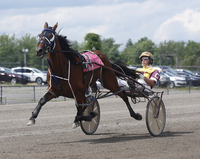 8d428575c Distance Racing made a triumphant return to Scarborough Downs on Sunday  (7 29) with the day s first two races stacked with 10 horses each and  carded at a ...